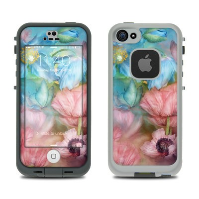 Lifeproof iPhone 5S Fre Case Skin - Poppy Garden
