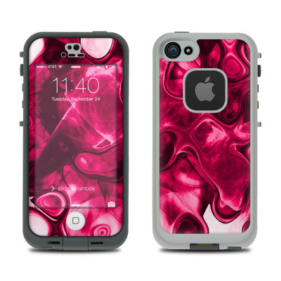 LifeProof iPhone 5S Fre Case Skin - Pink Splatter