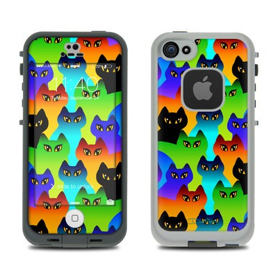 Lifeproof iPhone 5S Fre Case Skin - Rainbow Cats