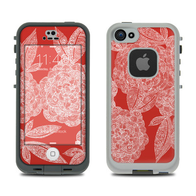 LifeProof iPhone 5S Fre Case Skin - Red Dahlias