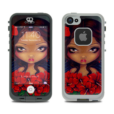 LifeProof iPhone 5S Fre Case Skin - Red Hibiscus Fairy