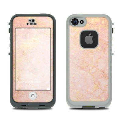 Lifeproof iPhone 5S Fre Case Skin - Rose Gold Marble