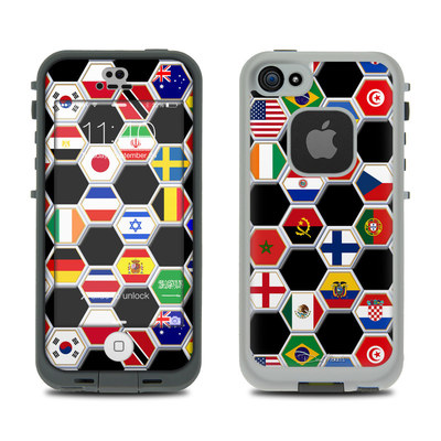 LifeProof iPhone 5S Fre Case Skin - Soccer Flags