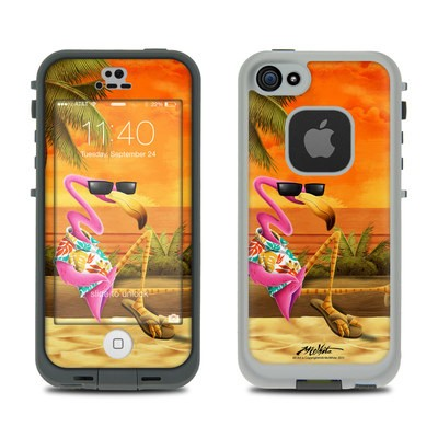 Lifeproof iPhone 5S Fre Case Skin - Sunset Flamingo