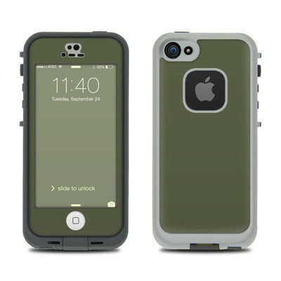 Lifeproof iPhone 5S Fre Case Skin - Solid State Olive Drab