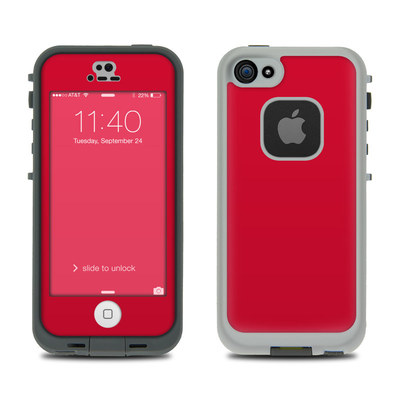 LifeProof iPhone 5S Fre Case Skin - Solid State Red
