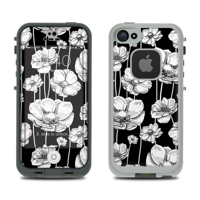 LifeProof iPhone 5S Fre Case Skin - Striped Blooms