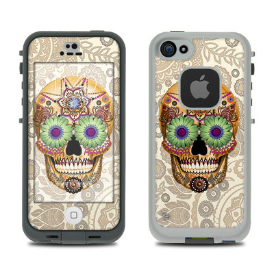 LifeProof iPhone 5S Fre Case Skin - Sugar Skull Bone