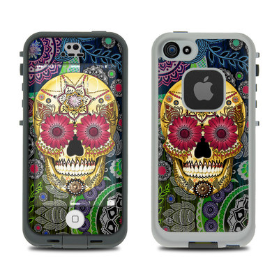 LifeProof iPhone 5S Fre Case Skin - Sugar Skull Paisley