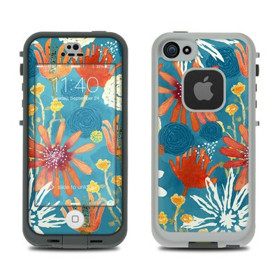 LifeProof iPhone 5S Fre Case Skin - Sunbaked Blooms