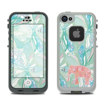 Lifeproof iPhone 5S Fre Case Skin - Tropical Elephant