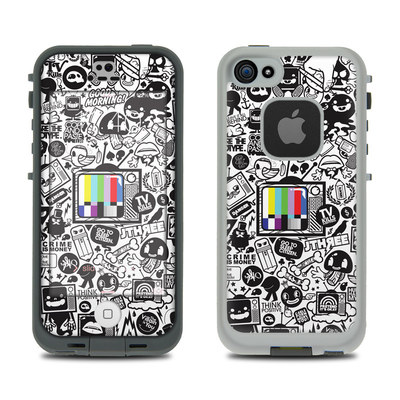LifeProof iPhone 5S Fre Case Skin - TV Kills Everything