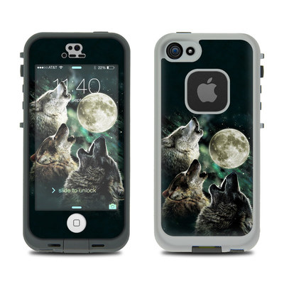 LifeProof iPhone 5S Fre Case Skin - Three Wolf Moon