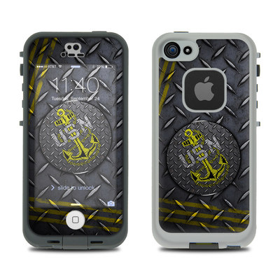 LifeProof iPhone 5S Fre Case Skin - USN Diamond Plate