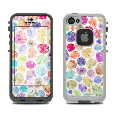 Lifeproof iPhone 5S Fre Case Skin - Watercolor Dots