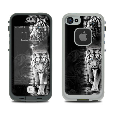 LifeProof iPhone 5S Fre Case Skin - White Tiger