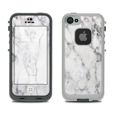Lifeproof iPhone 5S Fre Case Skin - White Marble