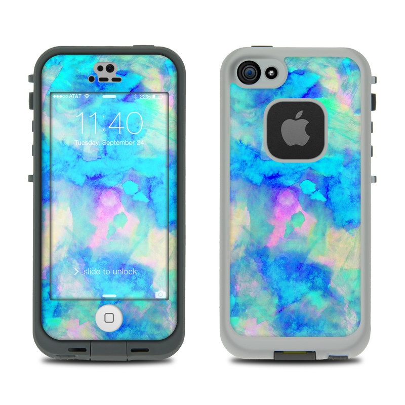 Lifeproof iPhone 5S Fre Case Skin - Electrify Ice Blue by Amy Sia ... b2f202245