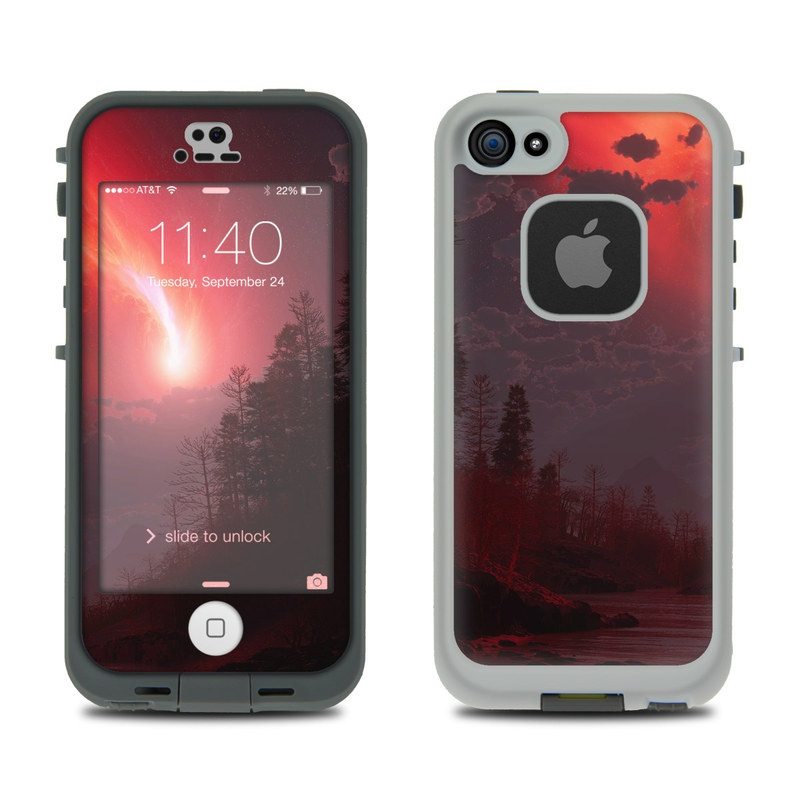 save off 62c31 74d91 LifeProof iPhone 5S Fre Case Skin - Red Harbinger
