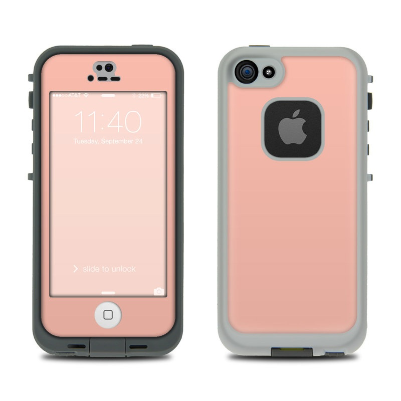 Lifeproof iphone 5s fre case skin solid state peach