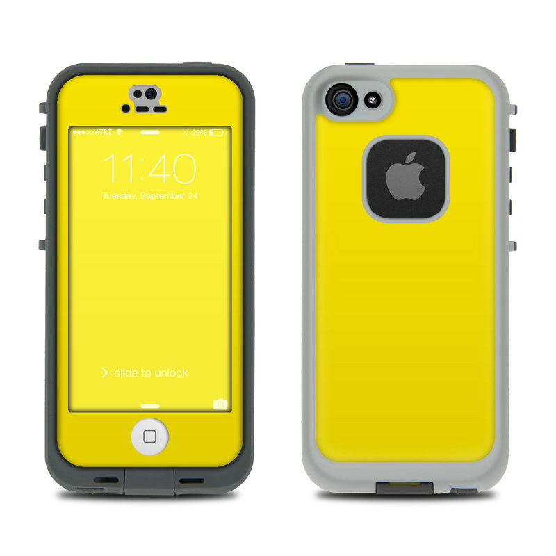 Lifeproof iphone 5s fre case skin solid state yellow by solid colors