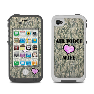 Lifeproof iPhone 4 Case Skin - Air Force Wife