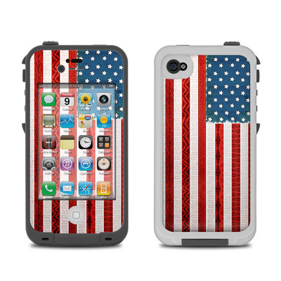 Lifeproof iPhone 4 Case Skin - American Tribe