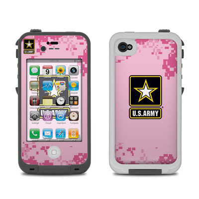 Lifeproof iPhone 4 Case Skin - Army Pink