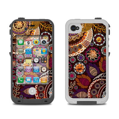 Lifeproof iPhone 4 Case Skin - Autumn Mehndi