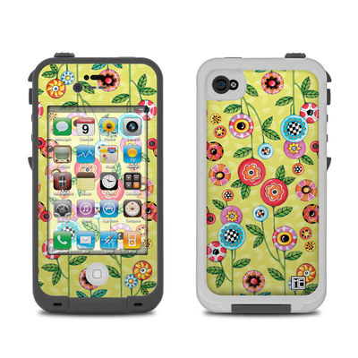 Lifeproof iPhone 4 Case Skin - Button Flowers