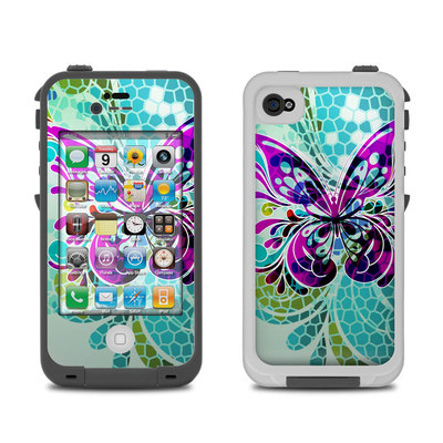 Lifeproof iPhone 4 Case Skin - Butterfly Glass