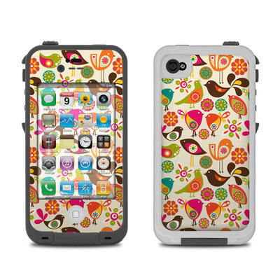 Lifeproof iPhone 4 Case Skin - Bird Flowers