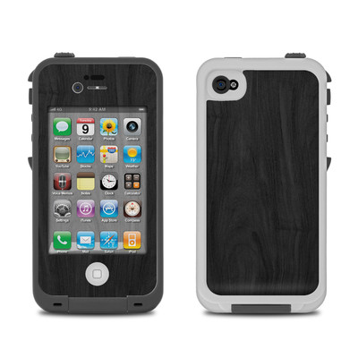 Lifeproof iPhone 4 Case Skin - Black Woodgrain