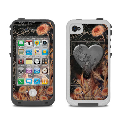 Lifeproof iPhone 4 Case Skin - Black Lace Flower
