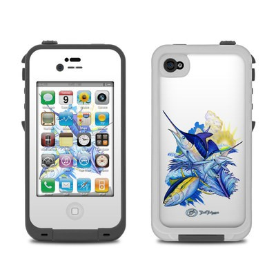 Lifeproof iPhone 4 Case Skin - Blue White and Yellow