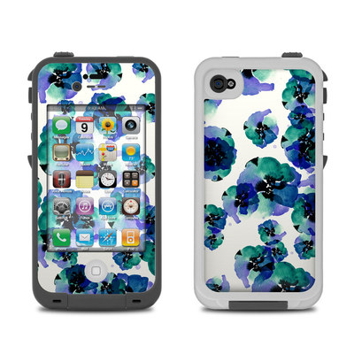 Lifeproof iPhone 4 Case Skin - Blue Eye Flowers