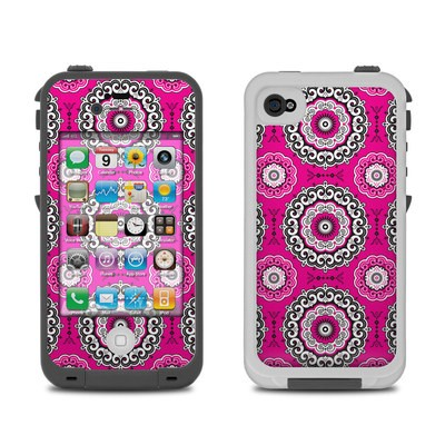 Lifeproof iPhone 4 Case Skin - Boho Girl Medallions
