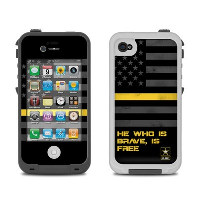 Lifeproof iPhone 4 Case Skin - Brave is Free