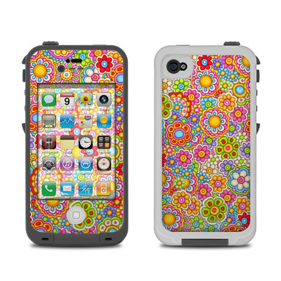 Lifeproof iPhone 4 Case Skin - Bright Ditzy