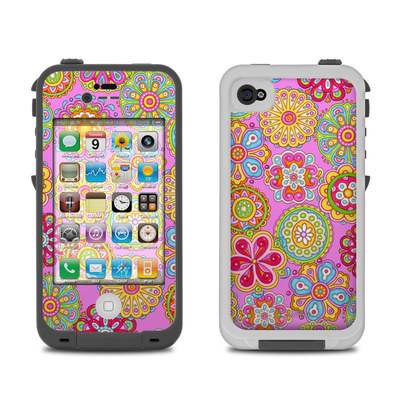 Lifeproof iPhone 4 Case Skin - Bright Flowers