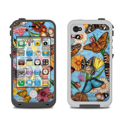 Lifeproof iPhone 4 Case Skin - Butterfly Land
