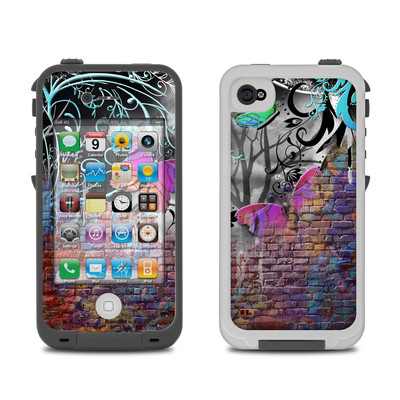 Lifeproof iPhone 4 Case Skin - Butterfly Wall