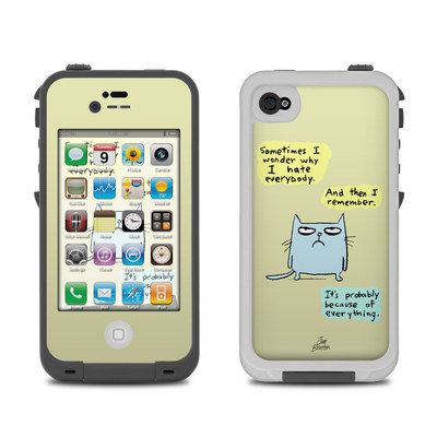 Lifeproof iPhone 4 Case Skin - Catwad Hate