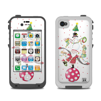 Lifeproof iPhone 4 Case Skin - Christmas Circus
