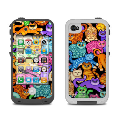 Lifeproof iPhone 4 Case Skin - Colorful Kittens
