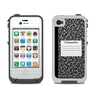 Lifeproof iPhone 4 Case Skin - Composition Notebook