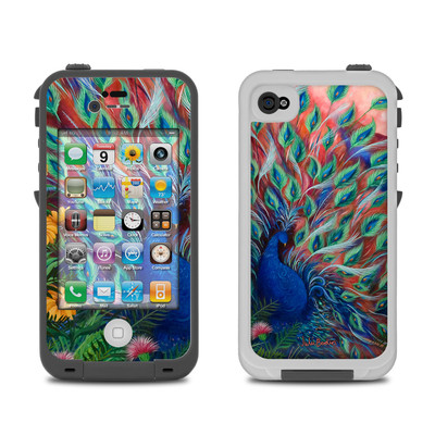 Lifeproof iPhone 4 Case Skin - Coral Peacock