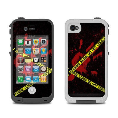 Lifeproof iPhone 4 Case Skin - Crime Scene