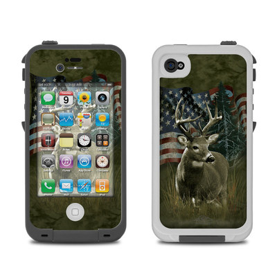 Lifeproof iPhone 4 Case Skin - Deer Flag