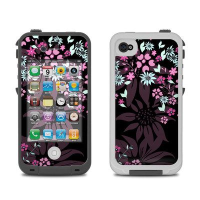 Lifeproof iPhone 4 Case Skin - Dark Flowers